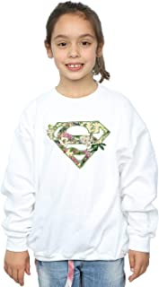 DC Comics Girls Supergirl Floral Shield Sweatshirt