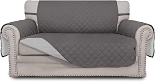 Best Easy-Going Sofa Slipcover Reversible Loveseat Cover Water Resistant Couch Cover Furniture Protector with Elastic Straps for Pets Kids Children Dog Cat(Loveseat,Gray/Light Gray) Review
