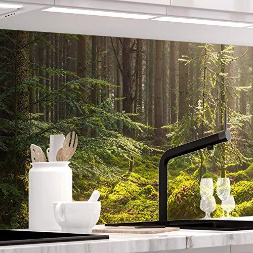 StickerProfis Küchenrückwand selbstklebend - MOOSGRUND - 1.5mm, Versteift, alle Untergründe, Hart PET Material, Premium 60 x 280cm