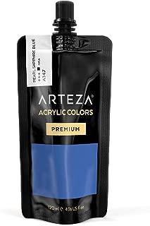 ARTEZA Acrylic Paint Pearl Sapphire Blue Color (120 ml Pouch, Tube)