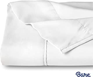 Bare Home Flat Top Sheet Premium 1800 Ultra-Soft Microfiber Collection - Double Brushed, Hypoallergenic, Wrinkle Resistant, Easy Care (Queen, White)