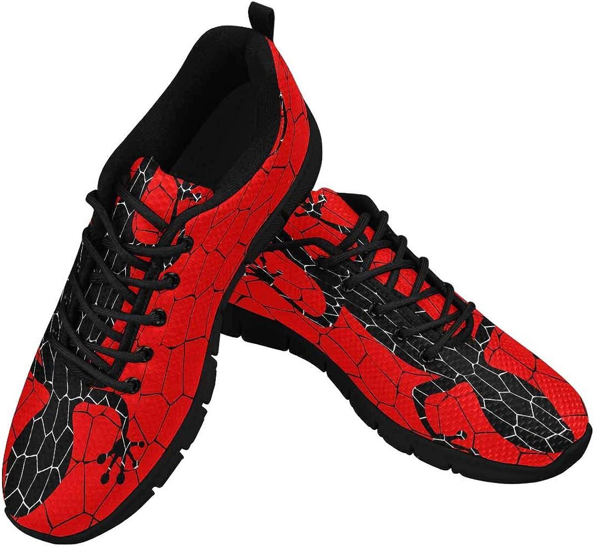 InterestPrint Black Lizards Women's Lightweight Athletic Casual Gym Sneakers