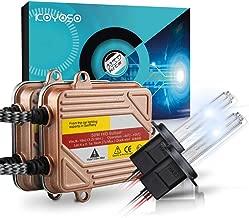 Koyoso H7 12V 50W HID Xenon Kit de Conversión Faro Vehículo Car Lámpara de Repuesto Inicio Rápido Delgado Balastos Lastre Lámparas Rápido Brillante 6000K