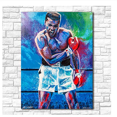 Painting Muhammad Ali Poster Canvas paintings Fashion Prints Wall Art Pop Art For Living Room Decor Print on canvas -60x80cm No Frame