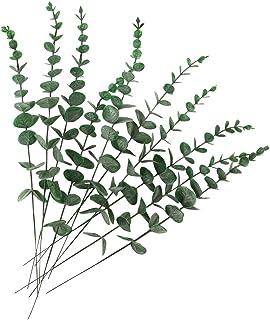 HATOKU 10pcs Artificial Eucalyptus Leaves Stem Real Touch Leaf Faux Eucalyptuses Flowers Branches Wedding Bouquet Centerpi...