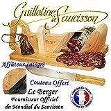 Guillotine, Trancheuse à Saucisson Traditionnelle Le Berger AFFUTEUR INTEGRE &...