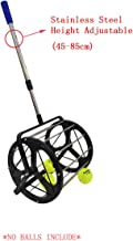 Lesmin Tennis Balls Pickup Automatic Balls Receiver Adjustable Height Hold Up 55 Tennis Balls