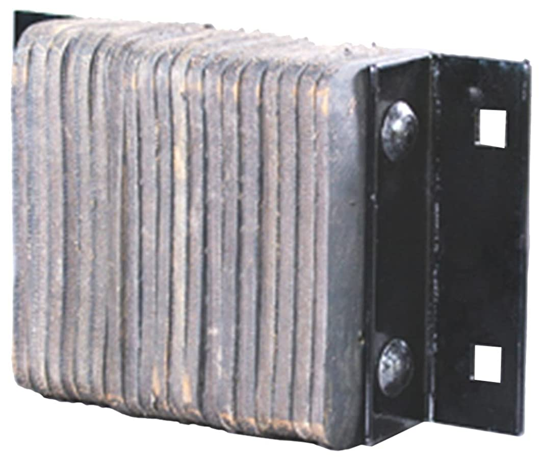 Durable Corporation Standard Rubber Dock Bumper, Rectangular, Laminated,Horizontal Mount, 4 Holes, 38