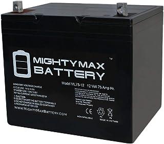 Mighty Max Battery 12V 75Ah SLA Battery for Wayne ESP25 Back-Up Pump Brand Product