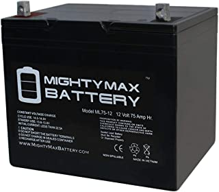 Mighty Max Battery 12V 75Ah Replacement Battery for Heartway S12X VITA Power Scooter Brand Product