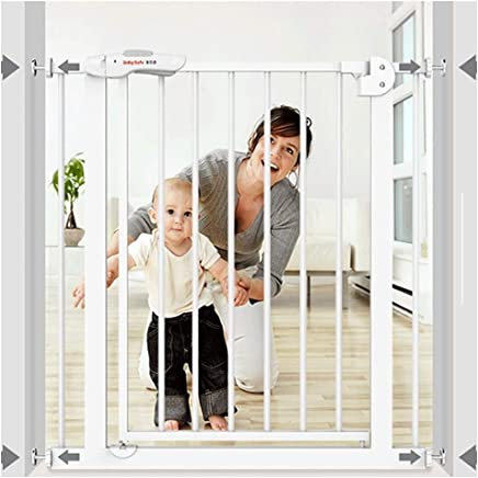 LELEGuardrail Foldable Baby Pet Safety Gates With Hole Installation Super Wide Isolation Fence Barrier For Fireplace Bottom Stairs  Color High Width  Size 215-224cm