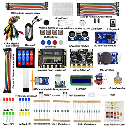Adeept BBC Micro Bit Set Starter Kit para BBC Micro:bit con 31 proyectos de libro tutorial para principiantes y niños