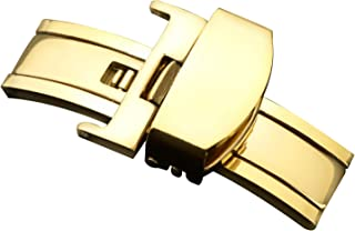 Stainless Steel Deployment Clasp Watch Band Strap Buckle Polished Butterfly Deployant Buckle
