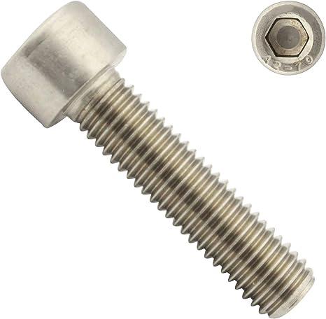 Eisenwaren2000 Zylinderschrauben mit Innensechskant M10 x 50 mm Edelstahl A2 V2A- rostfrei 20 St/ück DIN 912 - Zylinderkopf Schrauben ISO 4762 Gewindeschrauben