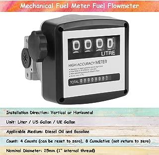 Acogedor Digital Flow Meter,Mechanical Fuel Meter Fuel Flowmeter, 1 Inch 4 Digital Diesel Gas Fuel Oil Flow Meter Counter Gauge
