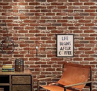 3D Stéréo Rétro Café Bar Restaurant Imitation Brique Tapisserie Épaissie  Culture Brick Tendance Tapisserie,Un