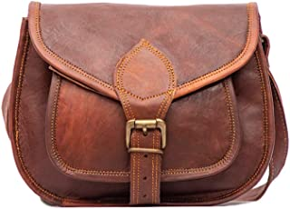 SAND CRAFT Women's Durable Leather Purse Gypsy Bag Crossbody College Students