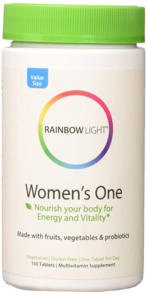 Rainbow Light Women's One Non-GMO Project Verified Multivitamin Plus Superfoods & Probiotics - 150 Tablets