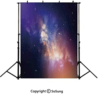 10x12Ft Vinyl Space Backdrop for Photography,Stars in Sky Supernova Comet Constellation Light Years Meteor Planetary Image Background Newborn Baby Photoshoot Portrait Studio Props Birthday Party Banne