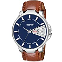 Redux Analog Men's Watch For Boy's (Blue Dial, Brown Colored Strap)