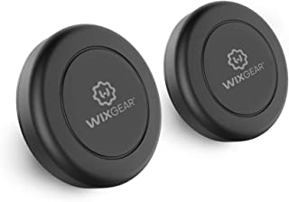 WixGear Universal Flat Stick On (2 Pack) Dashboard Magnetic Car Mount Holder for Cell Phones and Mini Tablets with Fast Sw...