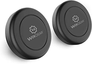 WizGear Universal Flat Stick On (2 Pack) Dashboard Magnetic Car Mount Holder for Cell Phones and Mini Tablets with Fast Swift-Snap Technology - Extra Slim