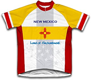ScudoPro New Mexico Flag Short Sleeve Cycling Jersey for Men