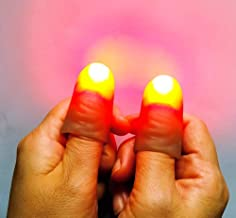 Regular Red Light up Magic - LED Finger Lamp Thumbs Set / (1 Packs/2PCS) Amazing Ultra Bright Light - Closeup & Stage Magic Tricks - Easy Illusion Anyone Can Do It - Detailed Instructions
