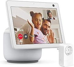 Nuovo Echo Show 10 (3ª generazione), Bianco ghiaccio + Amazon Smart Plug (presa intelligente con connettività Wi-Fi), comp...