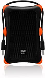 Silicon Power 2.5 inch 500GB USB 3.0 SP Rugged Armor A30 Shockproof External Portable Hard Drive - Black