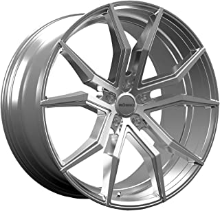 Rosso ICON 702 Silver Wheel with Machined Finish (22 x 10.5 inches /5 x 120 mm, 38 mm Offset)