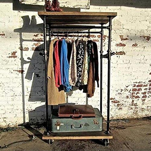 MEIDUO Étagères Support d'affichage accrochant de magasin d'habillement de tuyau d'eau de côté de support de vêtements L60 * W50 * H170 cm très durable
