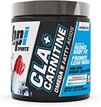 BPI Sports Cla + Carnitine – Conjugated Linoleic Acid – Weight Loss Formula – Metabolism, Performance, Lean Muscle – Caffeine Free – for Men & Women – Rainbow Ice – 50 Servings – 12.34 Oz