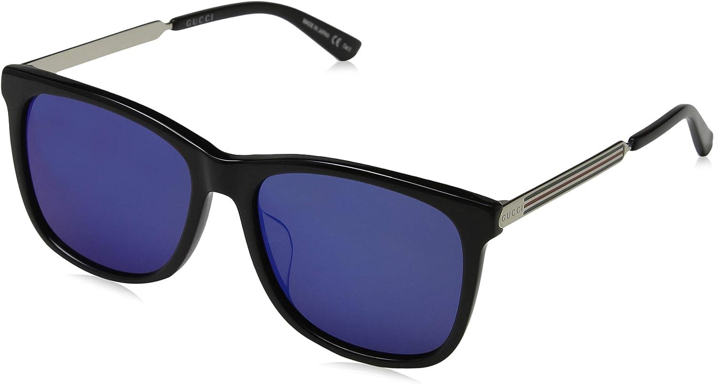 Gucci Fashion Sunglasses GG007 BLACK-GOLD-BLUE Max 63% OFF 8SK Award 001 56-17-150