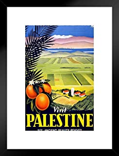 Poster Foundry Visit Palestine Ancient Beauty Retro Travel Matted Framed Wall Art Print 20x26 inch