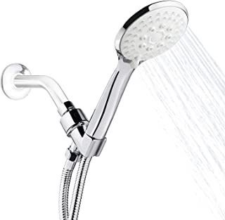 YISSVIC Handheld Shower Head 5 Spray Setting Shower Head with 59 Inches Hose and Adjustable Bracket for Bathroom, Shower Room, Sauna Room and Swimming Pool