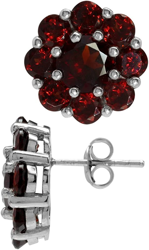 Silvershake 8.64ct. Natural Garnet White 925 High material Sterlin Gold Plated Low price