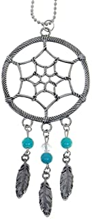 Ganz Dream Catcher Zinc Car Charm,Silver,One Size