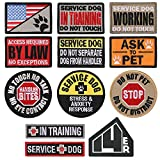 ✅ 12 UNIQUE MORALE PATCHES - Specifically designed to help your highly trained, professional service dog complete their duties. Highly visible and constructed to display your dogs attributes and needs. ✅ STAY HOOKED UP ALL DAY - All patches are finis...