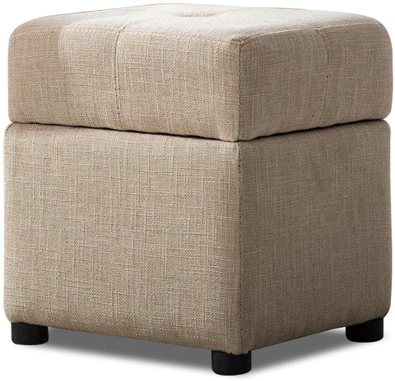 JUN Footstool Change shoes Bench,Door Living Room Storage Stool Sofa Bench Small Footstool (30  30  36CM)