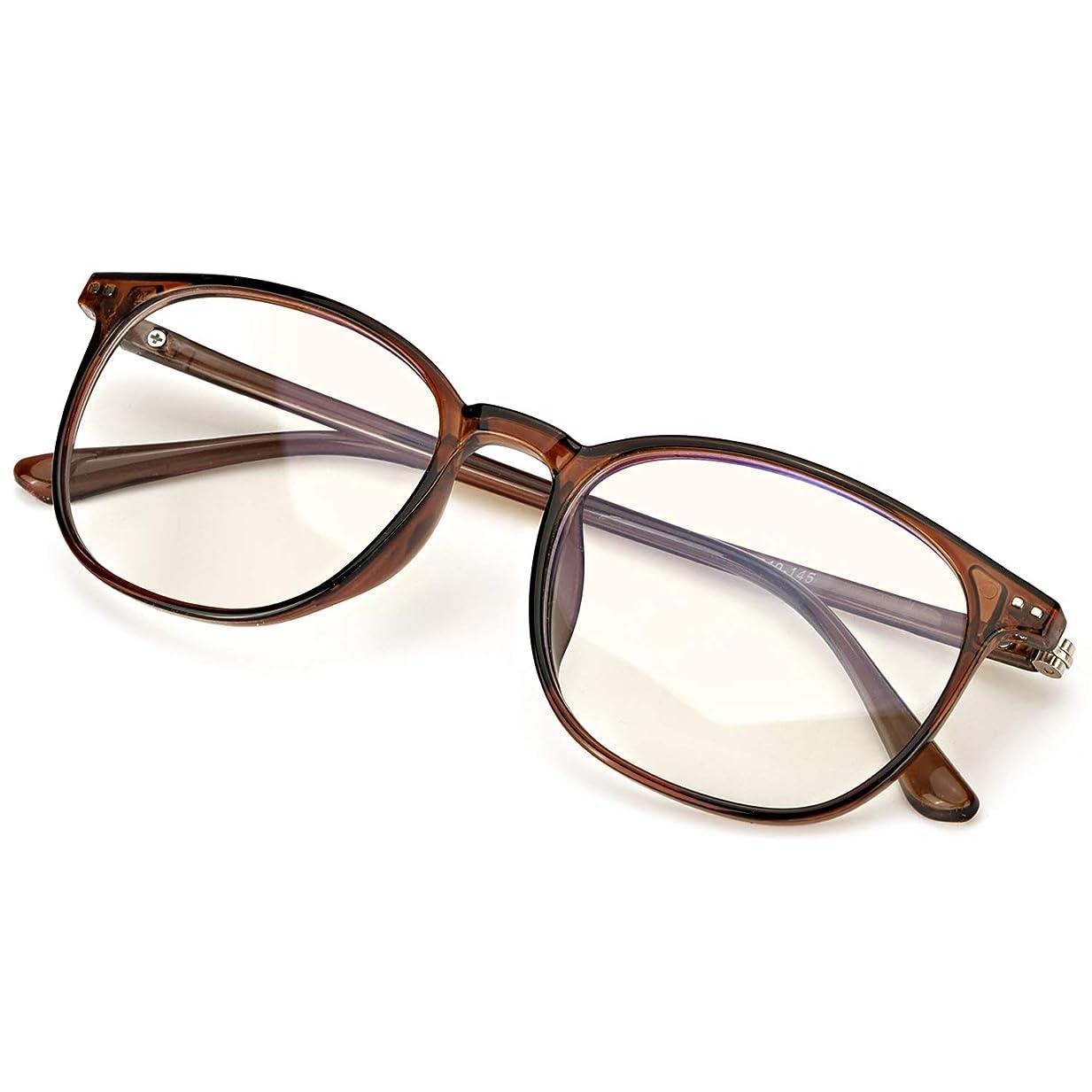 すすり泣きチャペルアラブSIPHEW ブルーライトカット メガネ[度なしレンズ、UV400、視力保護 ] 伊達眼鏡 軽量 pcメガネ 男女兼用
