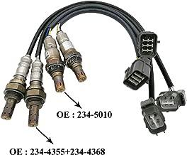 Automotive-leader 4pcs 234-5010 234-4355 234-4368 Oxygen Sensor 1 Sensor 2 Bank 1 Bank 2 Upstream Downstream for Honda Accord 3.0L Odyssey Pilot Ridgeline Acura MDX RL 3.5L
