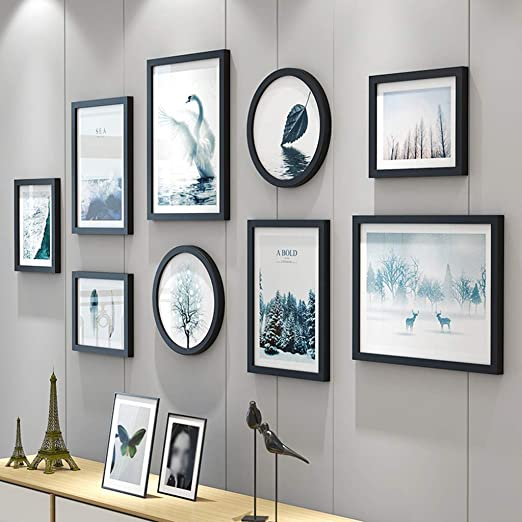 Amazon Com Zyanz Gallery Wall Frame Set Photo Frame Sets For Wall Hanging Wall Template Art Painting Core Color Black
