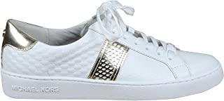 Micheal KORS Irving Stripe Lace Up Sneakers Optic White 43T0IRFS7L