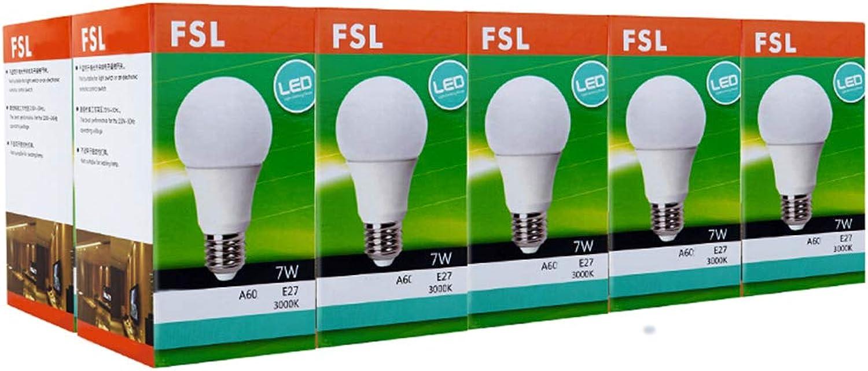 Hyvaluable Energiesparlampen-LED-Birne, 7W-Glühlampen, E27 Crystal Daylight 6500K (ein Zehnerpack) (Farbe   7W)