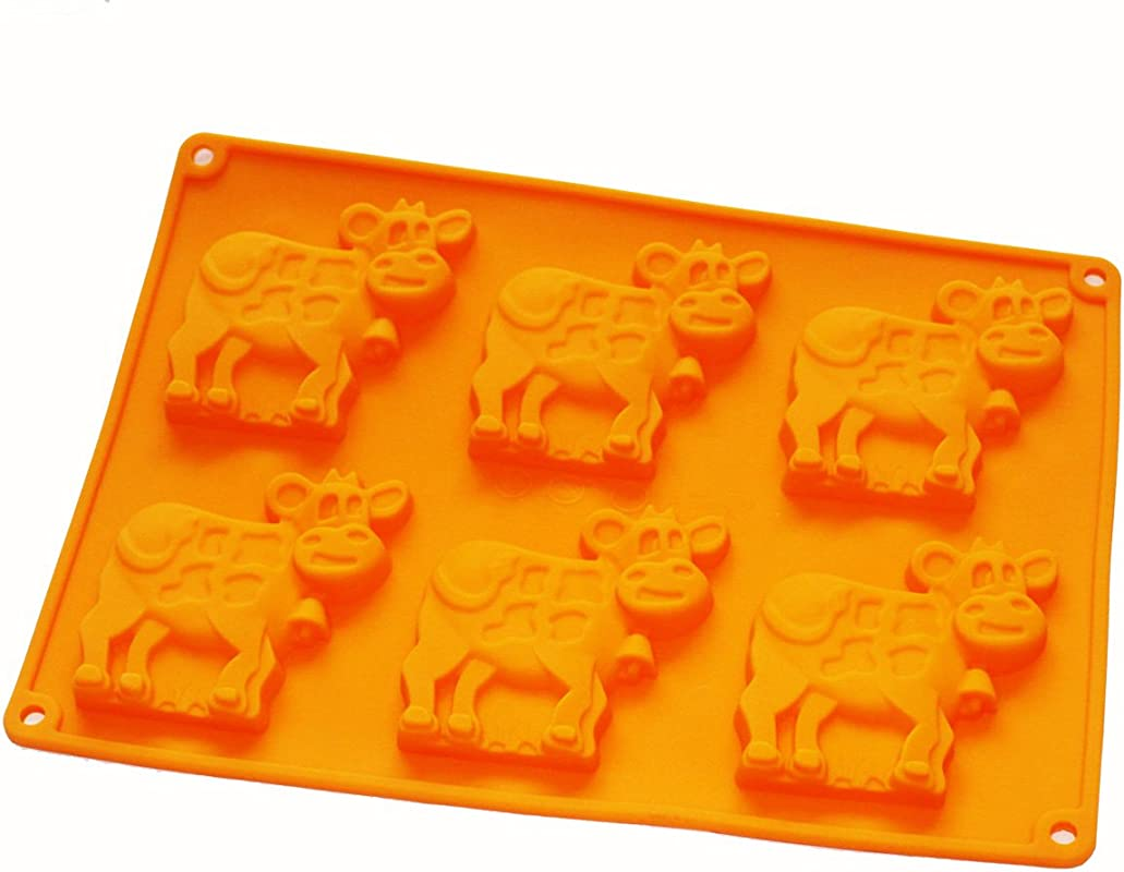 X Haibei Dairy Cow Flexible Silicone Mold Cookies Chocolate Candy Soap For Homemade