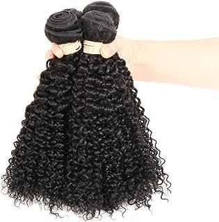 YESONEEP ブラジルのバージン人間の髪の毛の束ブラジルの変態カーリー織り人毛ナチュラルブラック色16-22インチ(100 +/- 5g)/ pc 1バンドルロールプレイングかつら女性の自然なかつら (色 : 黒, サイズ : 18 inch)