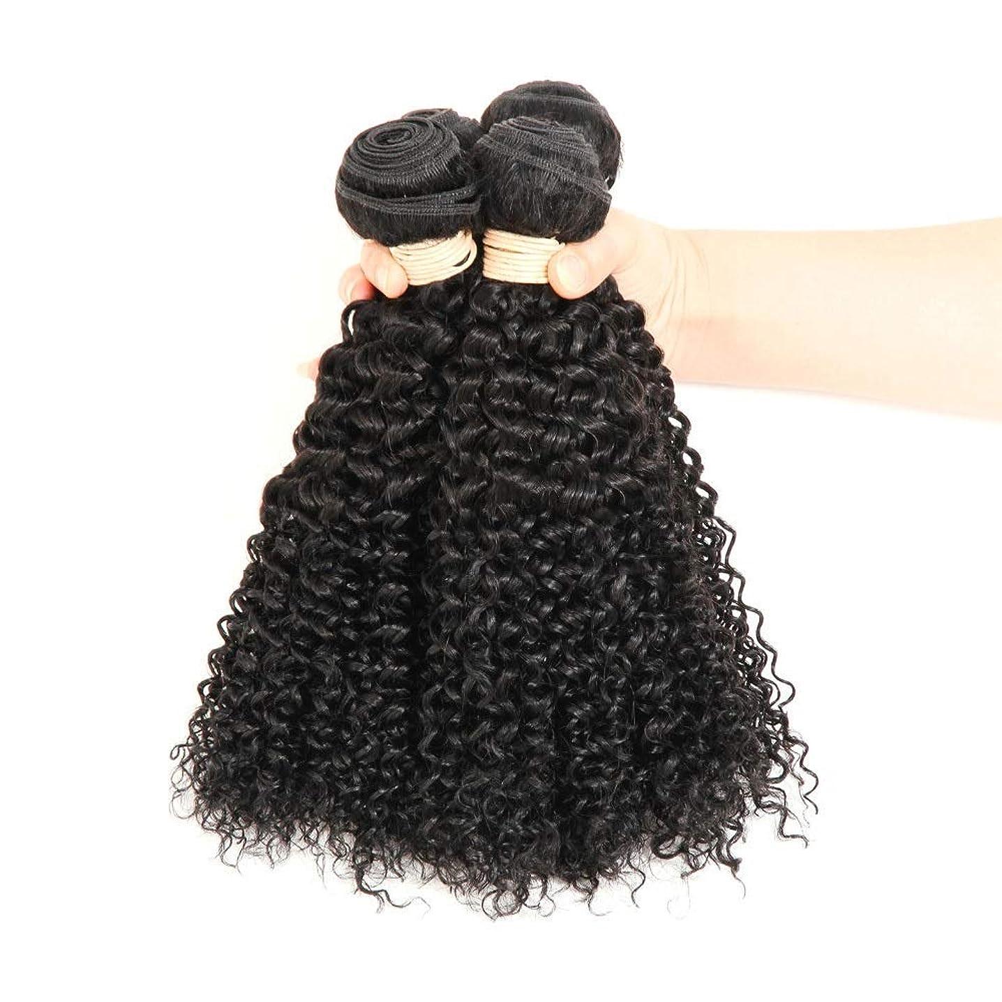 精緻化恥請求YAHONGOE ブラジルのバージン人間の髪の毛の束ブラジルの変態カーリー織り人毛ナチュラルブラック色16-22インチ(100 +/- 5g)/ pc 1バンドルロールプレイングかつら女性の自然なかつら (色 : 黒, サイズ : 22 inch)