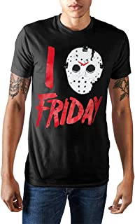 I Love Friday Jason Voorhees Mask Shirt Distressed Licensed Graphic T-Shirt