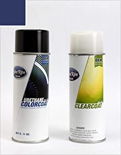 ColorRite Aerosol Automotive Touch-up Paint for Honda Civic - Fiji Blue Pearl Clearcoat B-529P - Color+Clearcoat Package